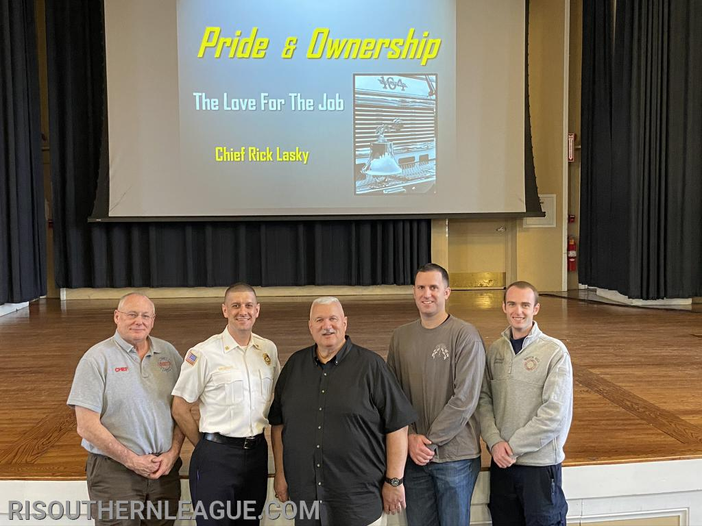 The steering committee for the event included League President, Chief Nate Barrington, Chief Chris DeGrave, Our Guest  Speaker Chief Lasky, Captain Jeff Thomas,  and League Secretary, Lieutenant Chris Koretski
