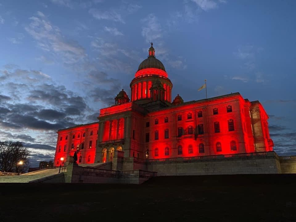 """I want you to look up at the State House and see that red dome and know it's a big thank you from every Rhode Islander to you."" Governor Raimondo"