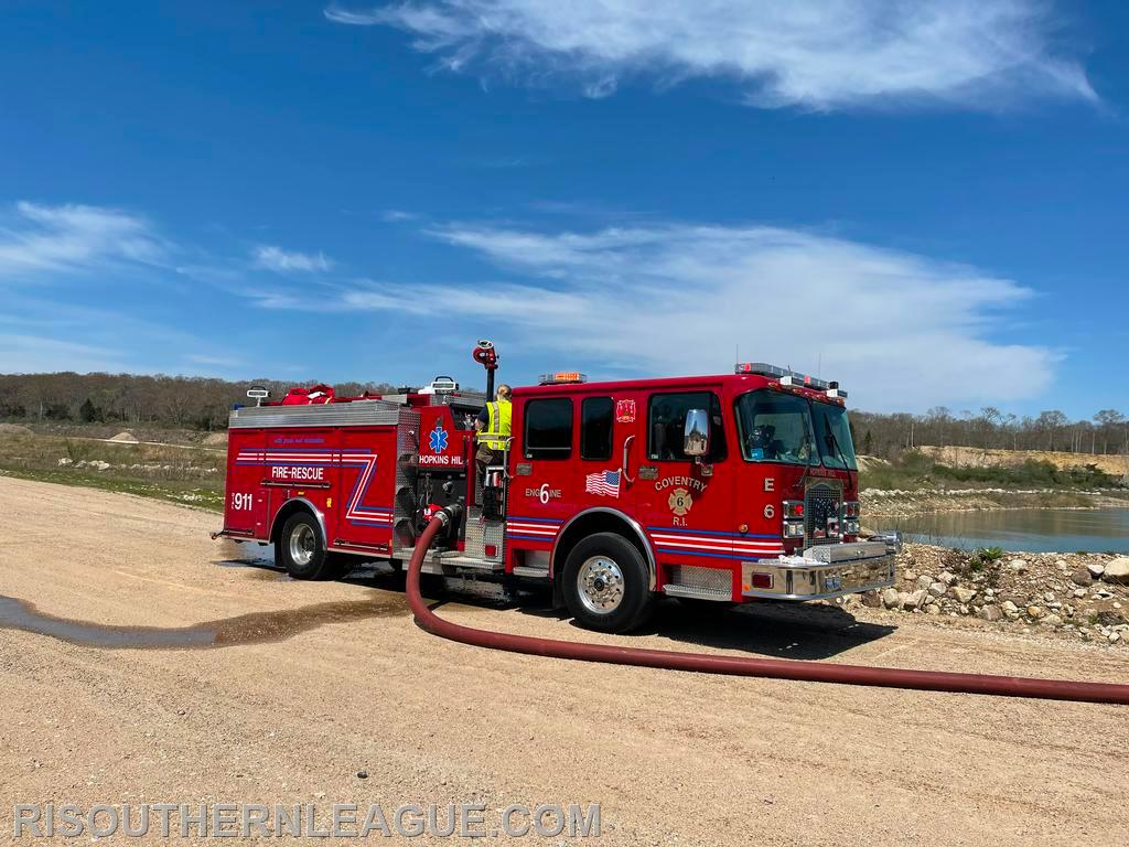 Hopkins Hill Engine 6 at the fill site