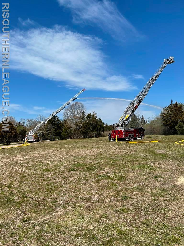 Watch Hill Ladder 104 and Kingston Ladder 2 operating