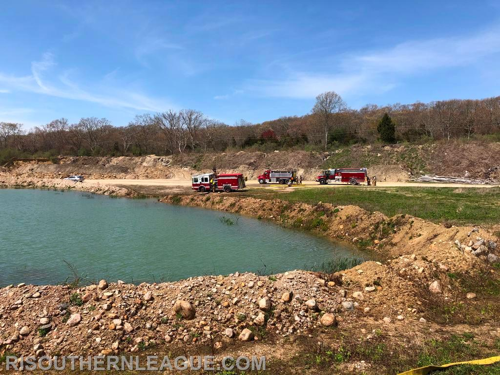 Apparatus operate at the fill site at South County Sand & Gravel