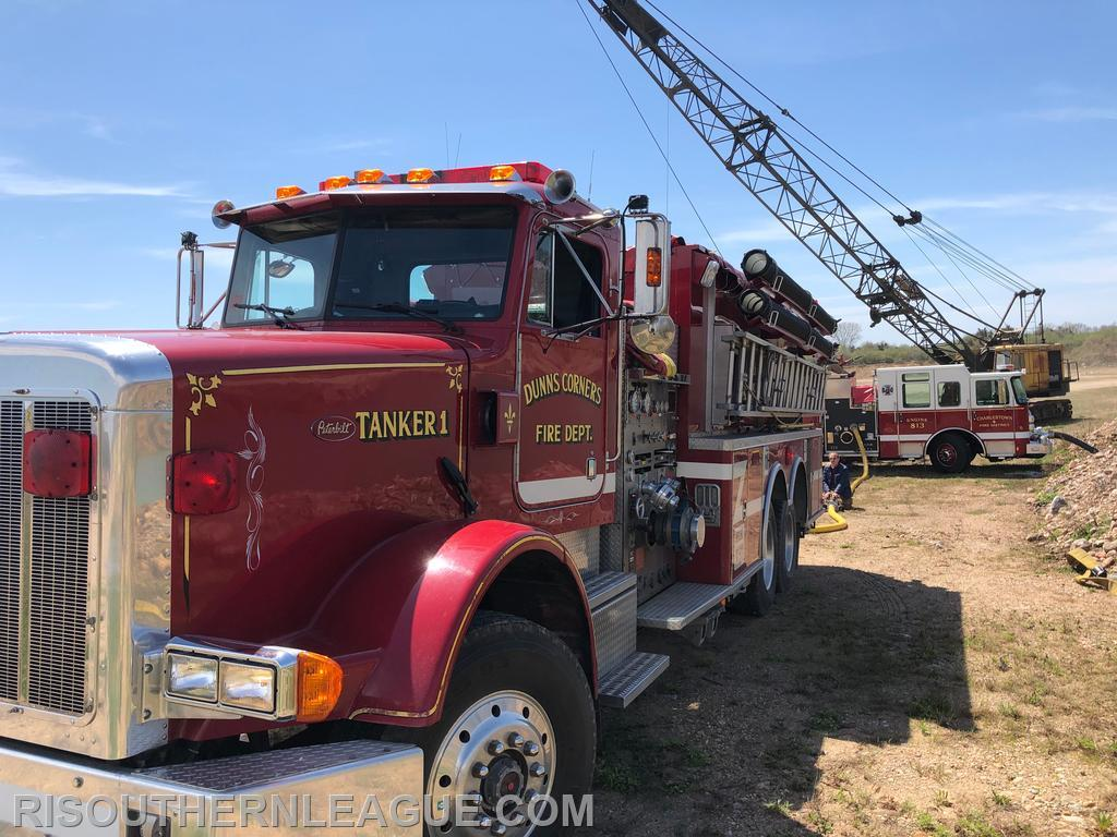 DCFD Tanker 1 and Charlestown Engine 813 at the fill site